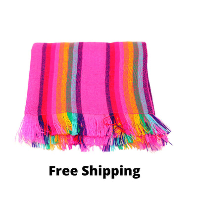 Pink Aztec fabric Table Runner,  Mexican table decorations, 3 sizes available