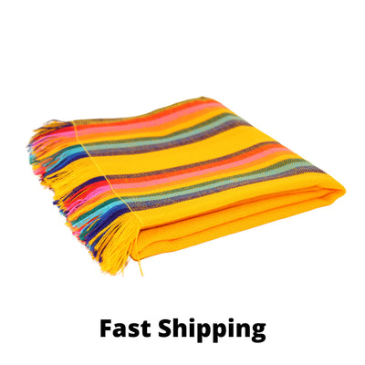 Yellow Mexican Table runner, Dinner Party Table Runner, Boho, Tribal,