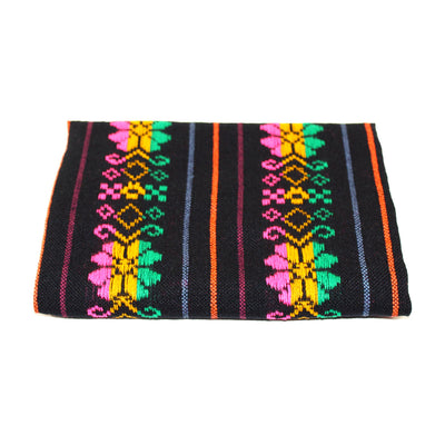 Black Mexican fabric, Cinco de Mayo decorations, Authentic Mexican fabric, Fiesta decoration,
