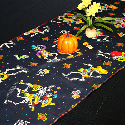 Day of the dead table runner 19x58 Inches, Day of the dead Altar, Halloween decorations, Dinner party Muertos, fiesta decoration, TRM21