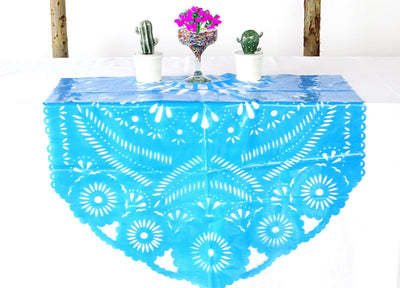 "Plastic fiesta party decorations 39 x 36"" in blue MF1"