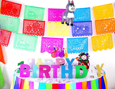First Birthday banner, Fiesta Birthday, Cinco de Mayo, Mexican Fiesta Decor, TB01