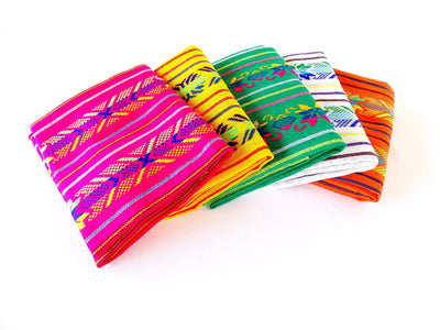 5 Mexican Fabrics, Fabric by the yard, Fiesta Decoration, Cinco de Mayo, Tribal fabric, BUN30
