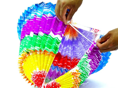 3 Pack Mexican Lanterns Paper, Cinco de Mayo Fiesta Decoration, Faroles