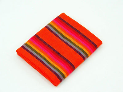 Orange Stripe Mexican fabric by the yard
