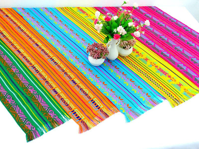 "Five Pack Mexican table runners 14x72"" Cinco de Mayo, Fiesta decoration, Wedding decoration,"
