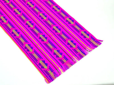 Mexican table runner, Pink Table runner 14x72 Inches, Fiesta Decoration, Cinco de Mayo, Boho Chic Decor, 14X72TRC737