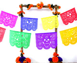 Papel Picado, Muertos papel picado, Halloween decorations, day of dead banner,  5 Pack Banners over 75 Feet long, WS200A