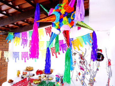 Piñata shaped Papel Picado Banner 5 pack WS13