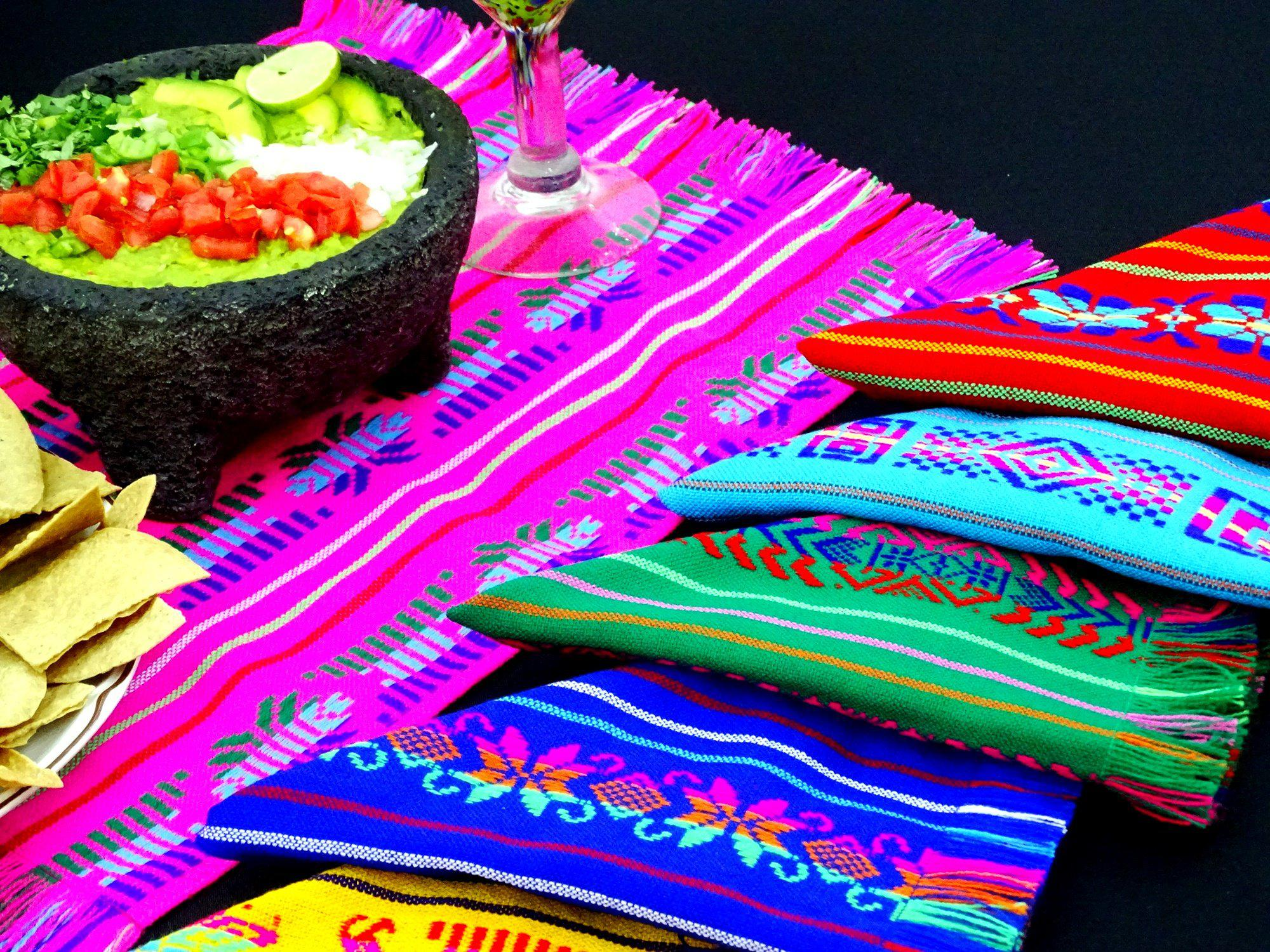 Mexican Napkins, Set of 12 Assorted colors, Fiesta wedding decor, Woven napkins, Cloth Napkins, NAP001