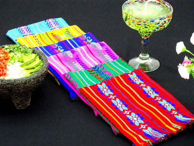 Mexican Woven Napkins, Bulk set of 6 Assorted Colors, Fiesta Decoration, Fiesta Decor, Cloth Napkins, NAP001