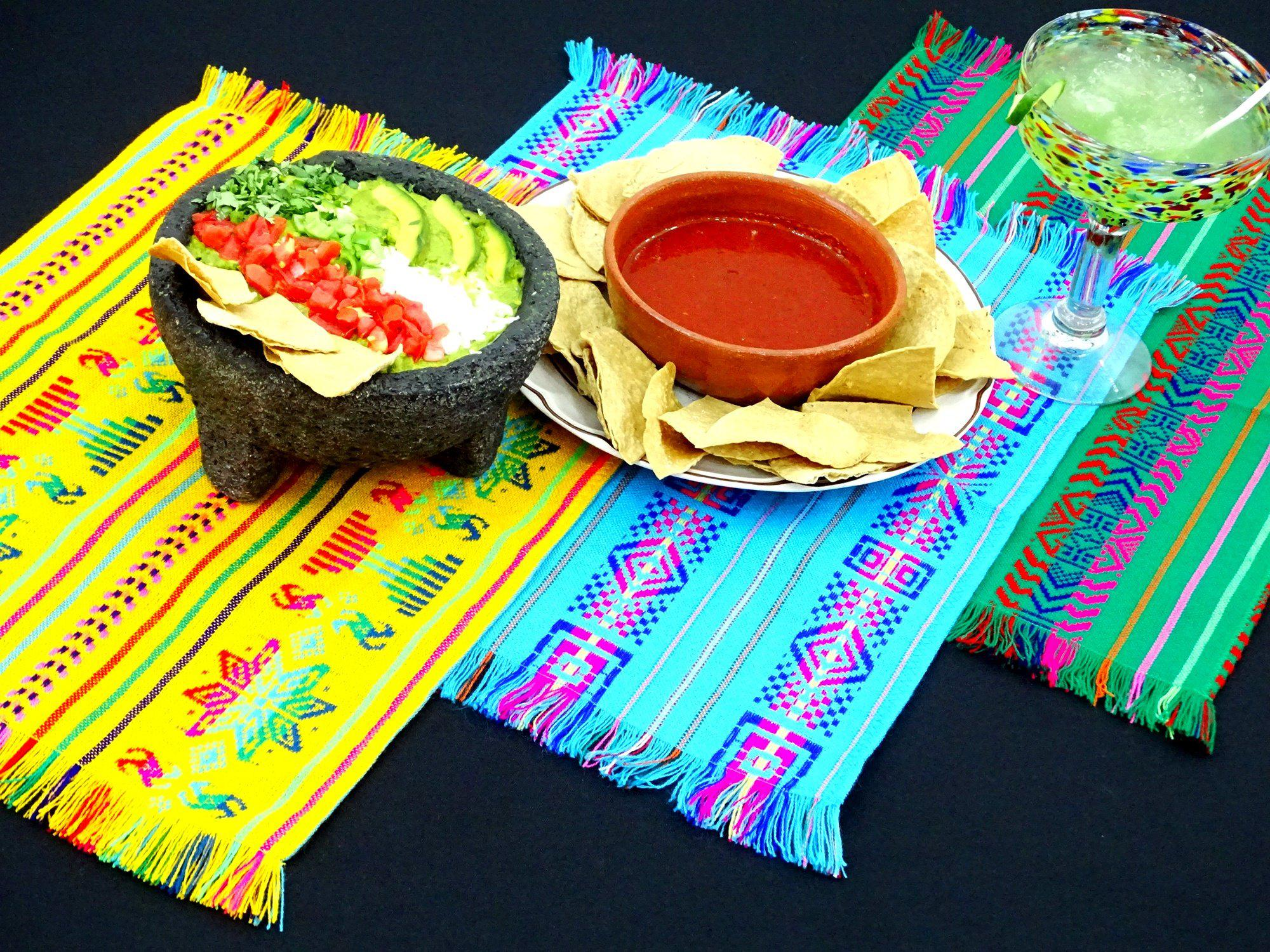 Mexican napkins, bulk set of 18, Assorted colors, Fiesta decor, woven napkins, boho chic linens, woven napkins, Nap001