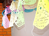 Pastel Party Banners, 5 Pack Banners, Fiesta baby shower, Fiesta Decorations Garland, Mexican Party Supplies, 60feet long, WSMIX2