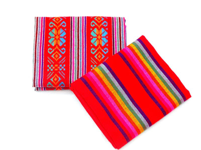 Cinco de Mayo Fabric, Fiesta decoration, 2 yards, Red Fabric.