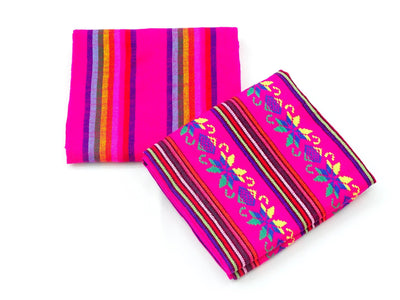 Mexican Fabric, 2 Pink yards, Cinco de mayo decoration, Fiesta.