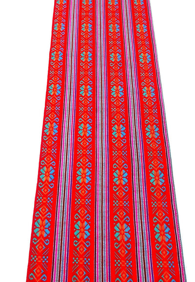 2 Pack Mexican table runners, Red Table runner 14x72 Inches, Fiesta Decoration, Cinco de Mayo, Boho Chic Decor, Boho table runner