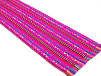 2 Pack Mexican Fabric Pink Table runners, Fiesta Decorations Cinco de Mayo.