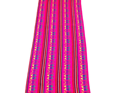 Mexican Fabric Pink Table runner, Fiesta Decorations Cinco de Mayo, Boho table runner, CTR4