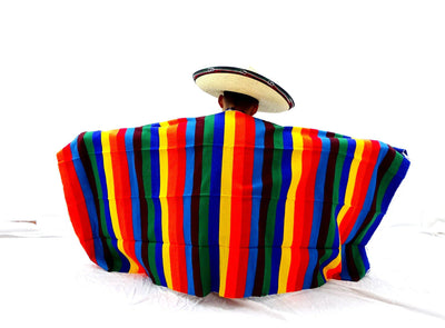 "Authentic Mexican Blanket 34X77 Inches"" Mexico decor BLANKET-9"
