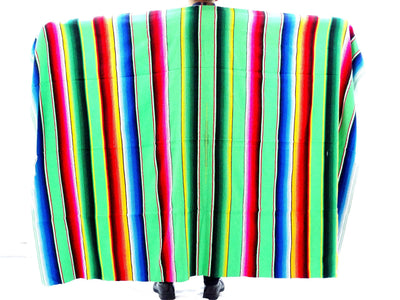 Sarape Mexican Blanket in Lime Green 57X83 Inches BLANKET-6