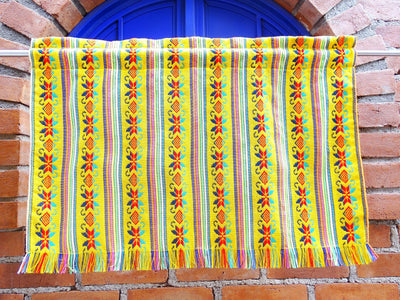Set of two colorful curtains, Bohemian curtains, Boho decor. yellow Curtains.