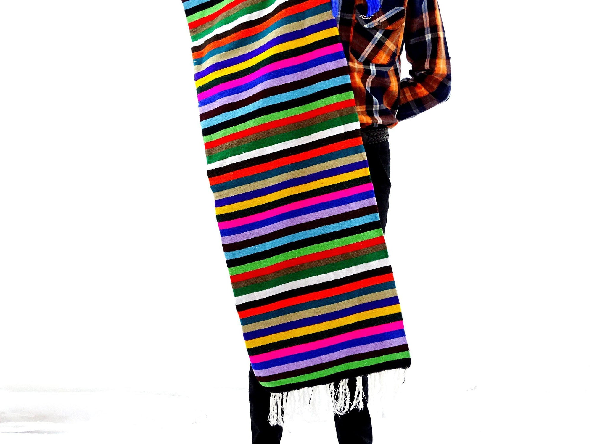 Authentic Serape Mexican Blanket 59X83Inches BLANKET-3