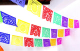 Mexican Papel picado, 16 feet, Fiesta decorations, Cinco de mayo, Large banners code B272