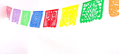 Cinco de Mayo Banners, 5 Plastic Banners, Fiesta decorations,Mexico deco, Large Garland, B274