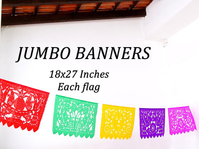 Mexican Fiesta Flags, Jumbo banners, Papel Picado Banner, Fiesta decoration, Cinco de Mayo, JUMBO01