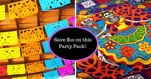 Mexican Party Pack for Dia de Los Muertos