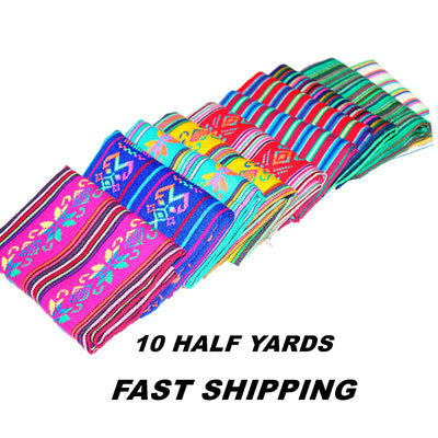 Tribal Fabric, 10 Half yards, Fiesta decoration, Boho tribal Fabric,