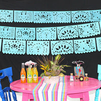 5 Pack Turqouise papel picado Mexican banners 60ft WS800