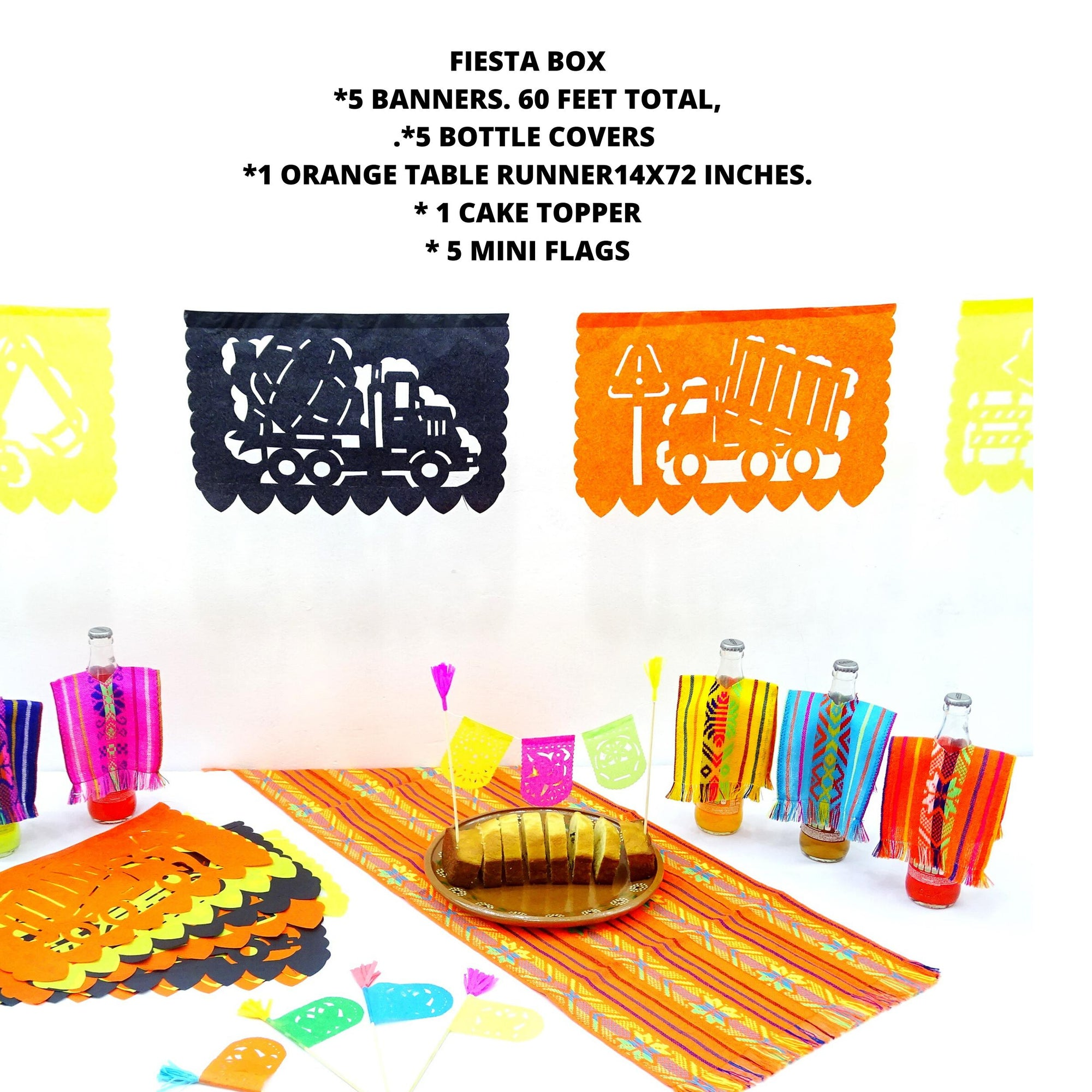 Fiesta Box, Fiesta decoration, Cinco de Mayo, Papel picado,