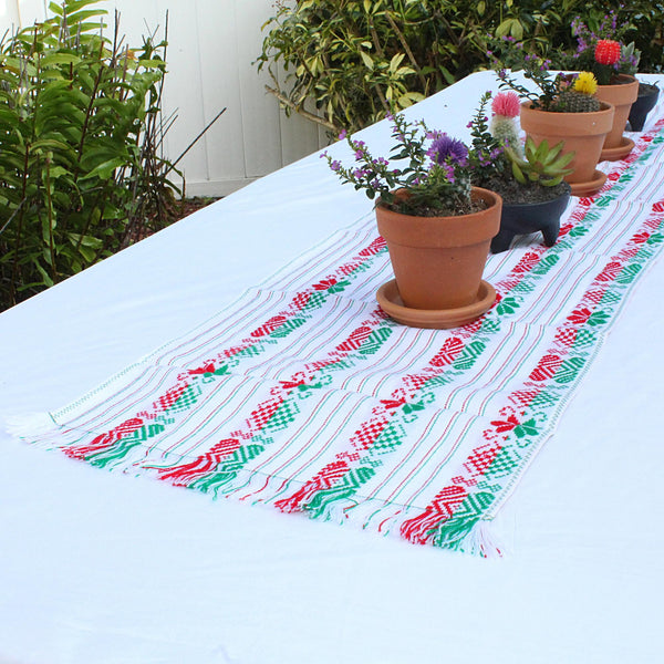 Table runner boho, 14x60 Inches