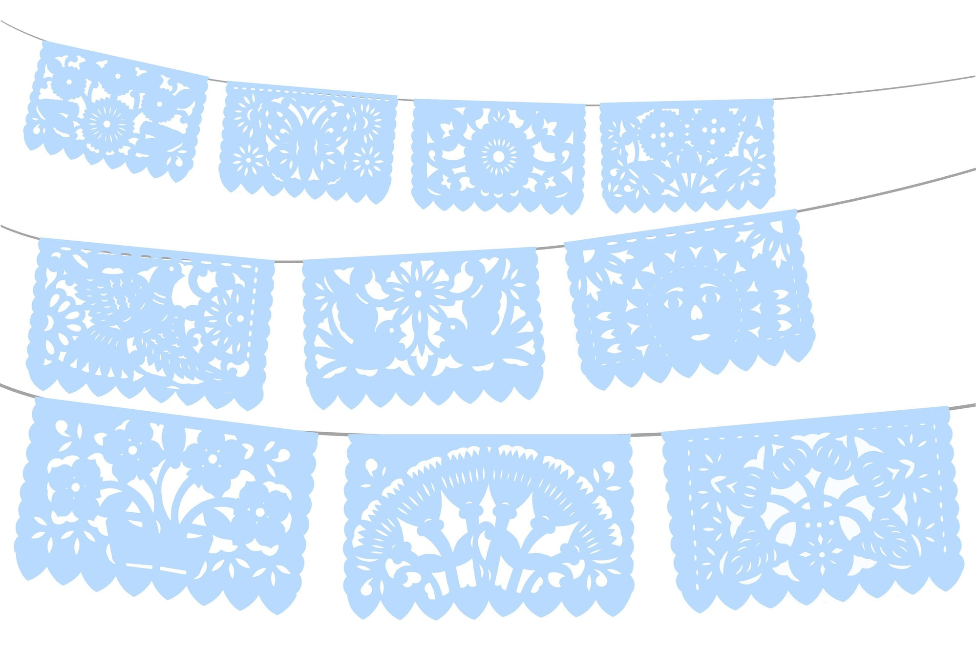 Mexican Party Supplies 5pk Banners in Light Blue WS900