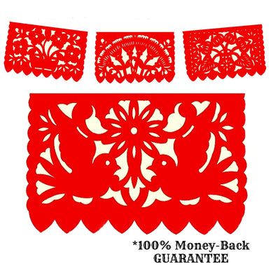 5 Pack Papel Picado Fiesta decoration 60 feet long WS500