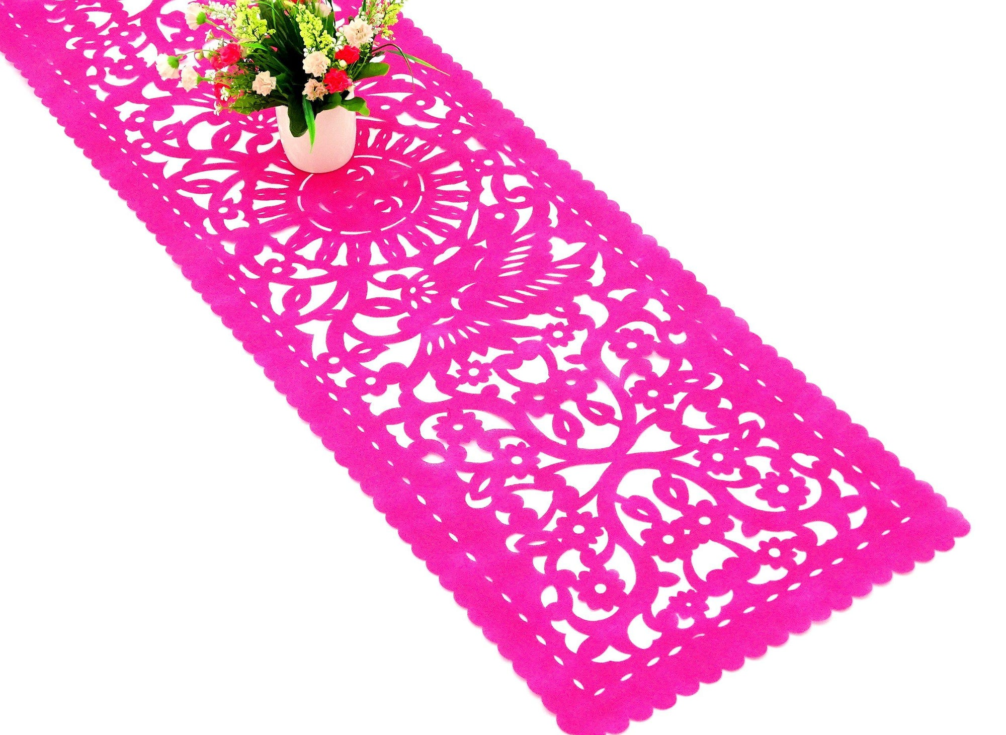 Mexican Fiesta Pink Fabric Runner FTR9
