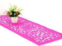 Mexican Fiesta Pink Papel Picado Runner for parties FTR9