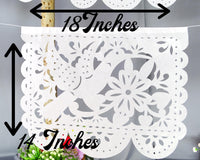 Fiesta Party Decorations - White Papel Picado WS93