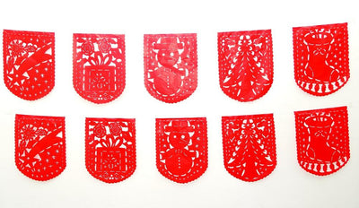 Holiday Party Collection - Christmas Banner 16 FT Holiday Banner, Red Holiday GARLAND, Christmas Decoration
