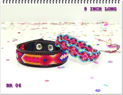 Mexican Fabric - Mexican Bracelet, Mexico Embroidered, Embroidered Mexican, Friendship Bracelet.