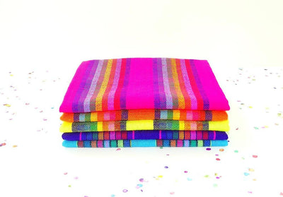 Mexican Fabric - Mexican Fabric Half Yards, Aztec Fabric By The Half Yard, Mexican Striped Fabric, Ethnic Fabric Half Yard, Cinco De Mayo Party Decorations