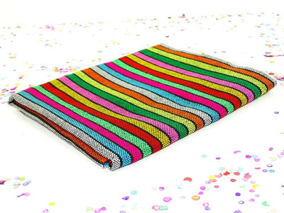 Mexican Fabric - Mexican Striped Fabric, Fiesta Party Decor, Serape Zerape Sarape.