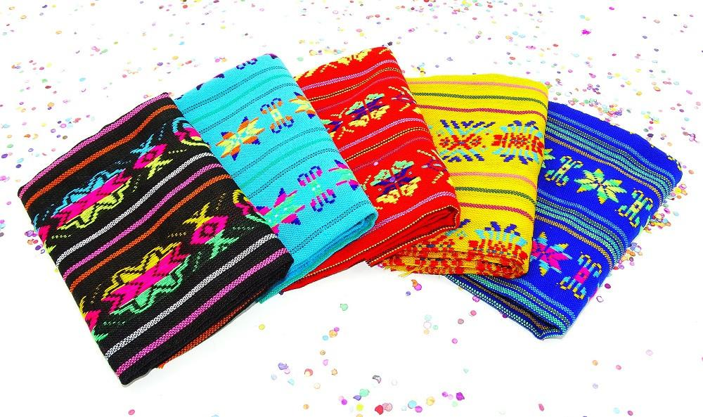 Mexican Fabric - Mexican Woven Fabric, Aztec Fabric By The Half Yard, Mexican Theme Decorations.