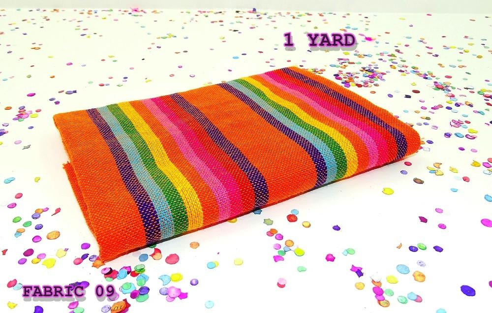 Mexican Fabric - Serape Zerape Sarape, Ethnic Fabric By The Yard, Mexican Party Decorations.
