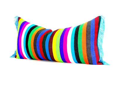 Mexican Pillow Cover - Bohemian Decor, Mexican Pillow Covers 14x28, Funky Mexico Blanket Fabric Pillow,  Tribal Aztec Pillowcase Sham Multicolor Pillows, 14X28E1