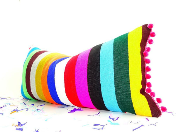 Bohemian Decor Mexican Pillow Covers 14x28 Funky Mexico