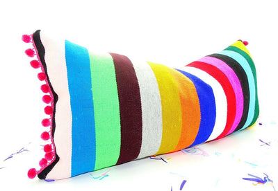 Mexican Pillow Cover - Bohemian Decor, Mexican Pillow Covers 14x28, Funky Mexico Blanket Fabric Pillow,  Tribal Aztec Pillowcase Sham Multicolor Pillows