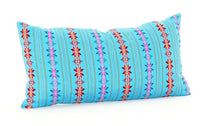 Mexican Pillow Cover - Colorful Pillow Cover, Aqua Blue Mexican Pillow, Pillow Case Aztec Boho, Fiesta Decoration,