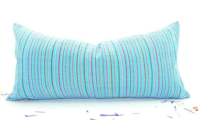 Mexican Pillow Cover - Colorful Pillow Cover, Aqua Blue Mexican Pillow, Pillow Case Aztec Boho, Fiesta Decorations